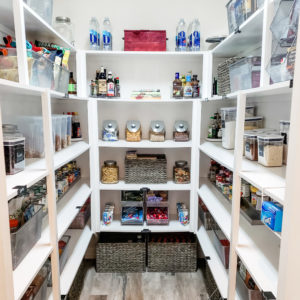 Clean organized pantry